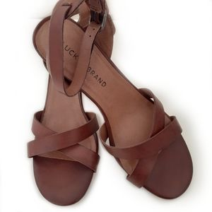 Lucky Brand Leather Strap Sandals
